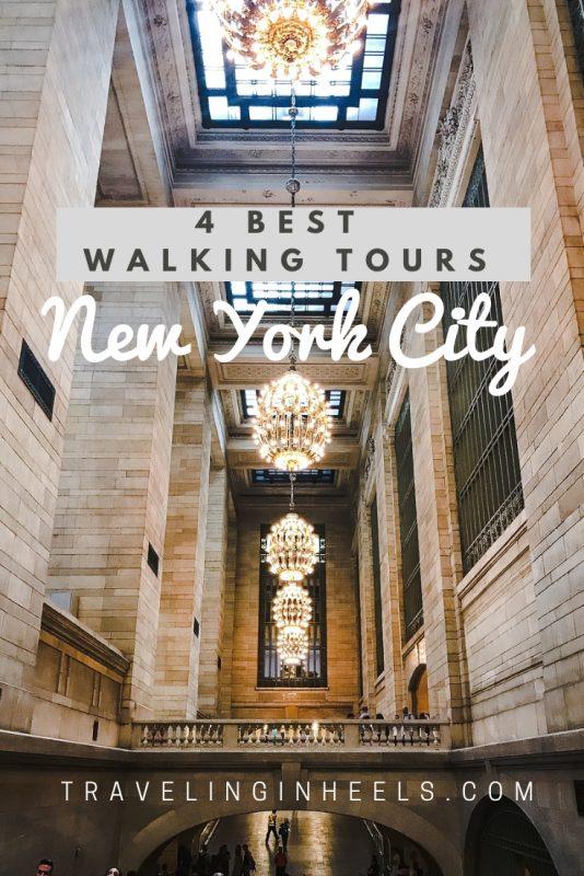 4 best walking tours in New York City #walkingtoursNYC #NewYorkCity