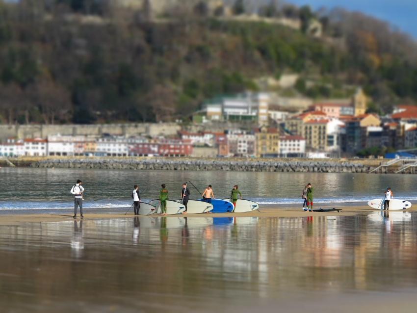 Surf's up in beautiful Basque Country, San Sebastian, Spain #SanSebastian #Spain
