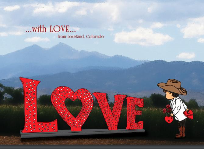 Introducing the 2020 Loveland Valentine card.
