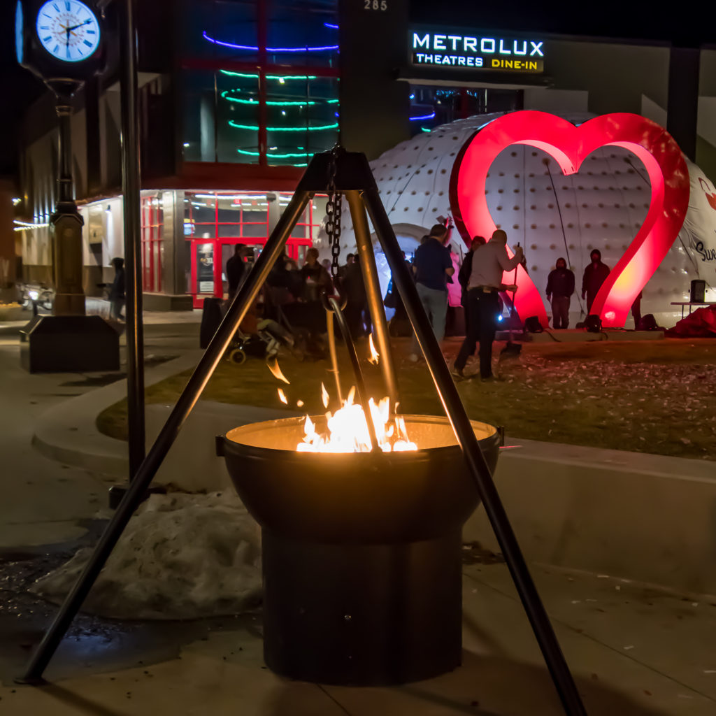 The unveiling of the newest Love sculpture in 2020. Photo: Loveland Sweetheart Festival