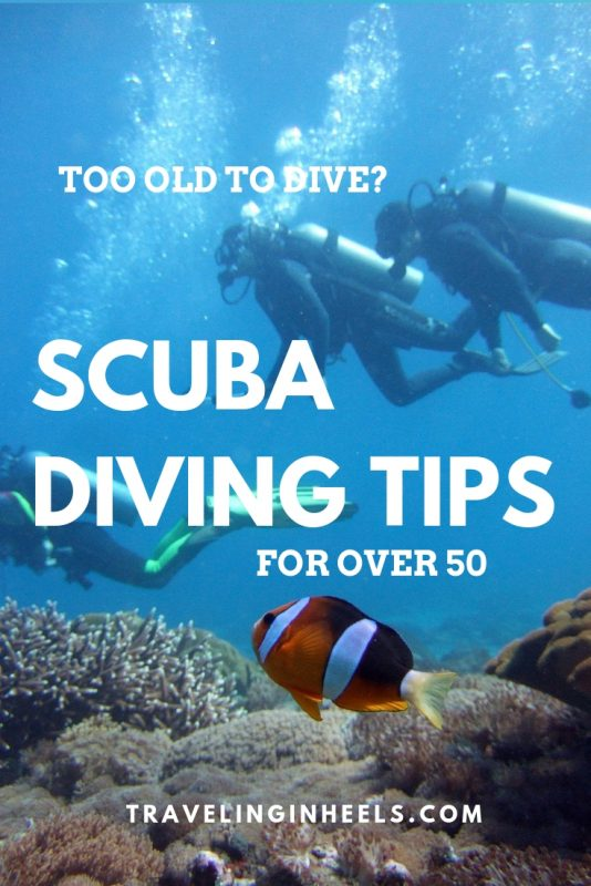 Too Old to Dive? Scuba Diving Tips and Research for over 50 #ScubaDivingTips #divingforover50