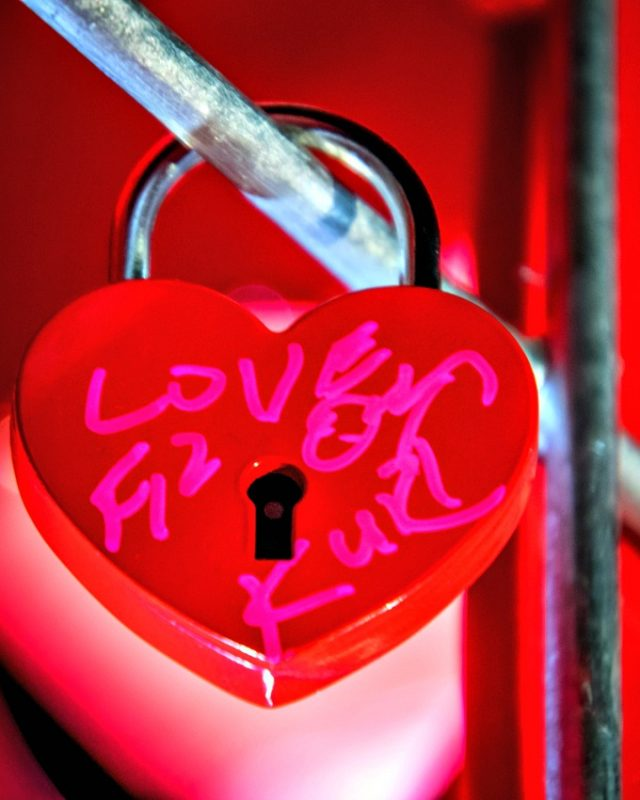 Declare your love at the Loveland Sweetheart Festival with a love lock.