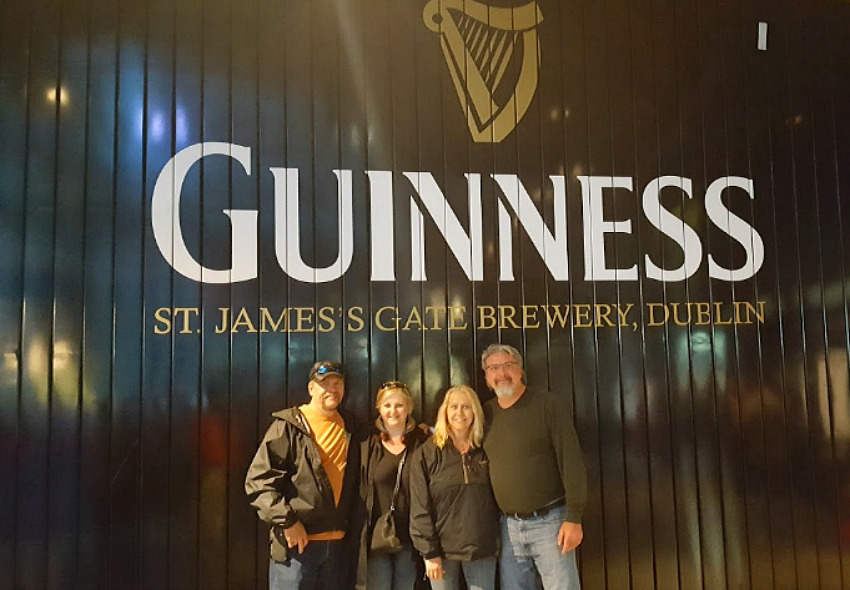 Take the tour of the Guinness Storehouse and stop for the freshest Guinness at the St. James's Gate Brewery in Dublin, Ireland.