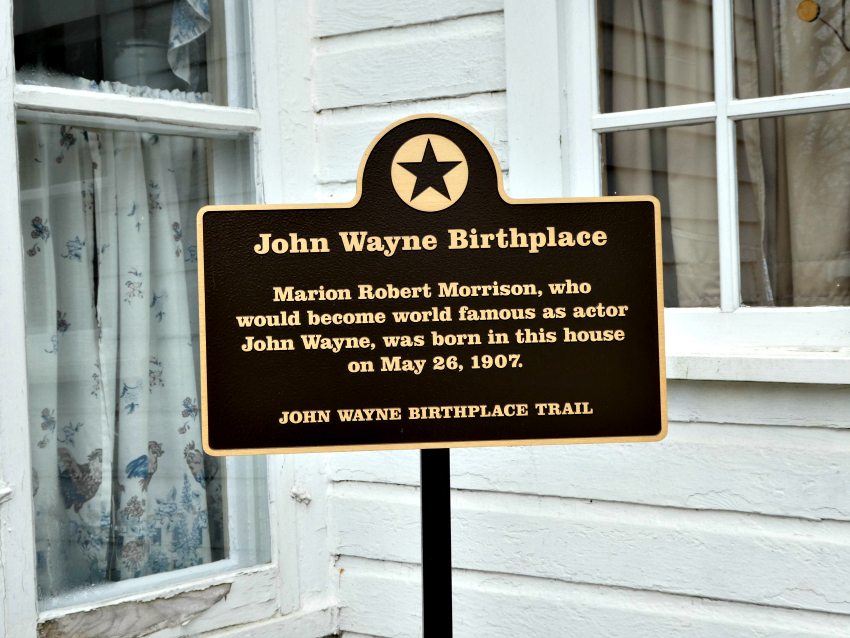 Fans of Actor John Wayne will want to visit his childhood home of Winterset, Iowa.