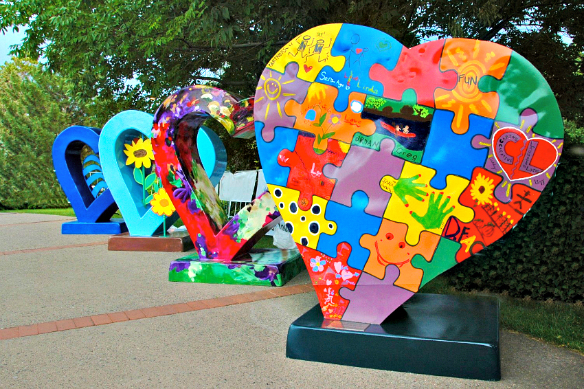 The Loveland Sweetheart Festival also includes art installations and interactive art displays
