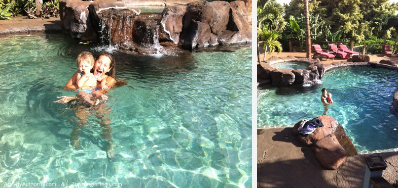 Kids will always vote for pool time at a Maui hotel or resort.