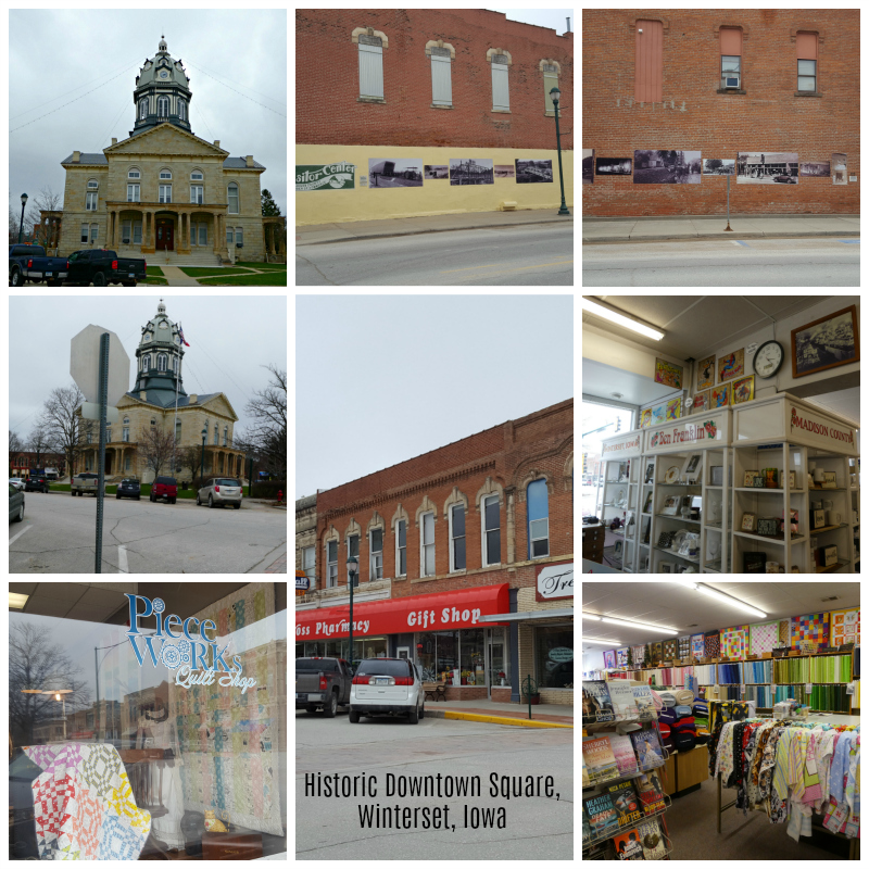 Historic storybook town square in Winterset, Iowa.