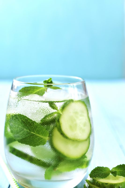 "Prosecco is the ""secret"" ingredient in this St Patrick's Day cocktail recipe, Cucumber Lime & Basil Prosecco Spritzer"