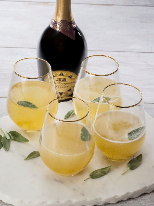 Cheers to this Ginger Sage Cocktail, the perfect St. Patrick's Day cocktail.