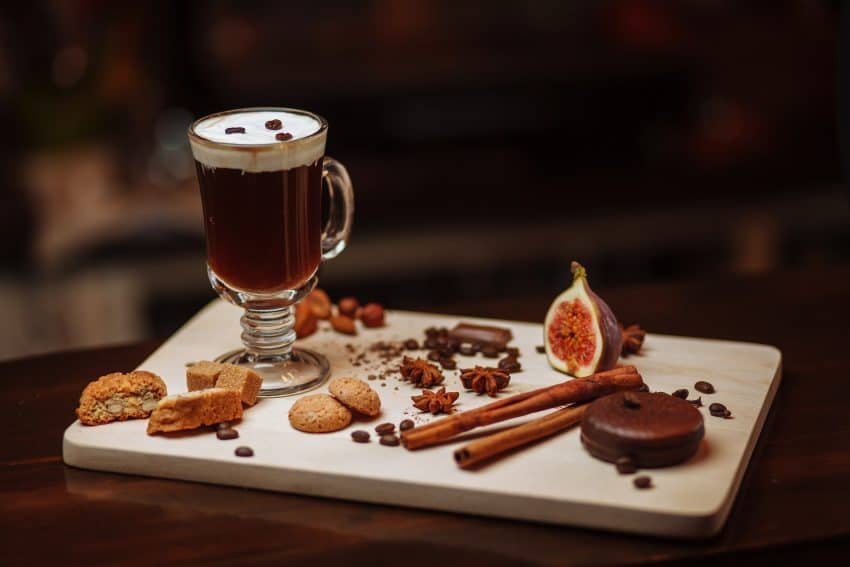Start your St Paddy's Day Celebration with a traditional Irish Coffee.