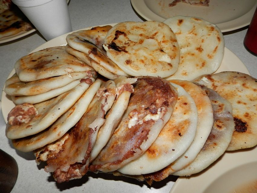 Pupusa is thick cornmeal flatbread from the Pipil culture of El Salvador. Photo credit: Wikipedia