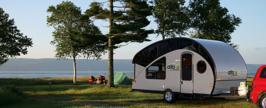 Camper trailers are convenient to tow and perfect for family road trips.