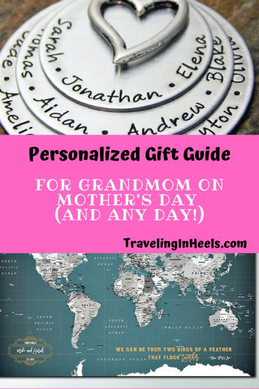 Personalized Gift Guide for Grandmom on Mother's Day or any occasion #Giftguide #mothersday #grandparentsday #mothersdaygifts