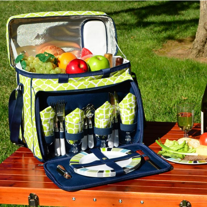 Surprise the kids by packing a picnic basket and taking a break on your family road trip.