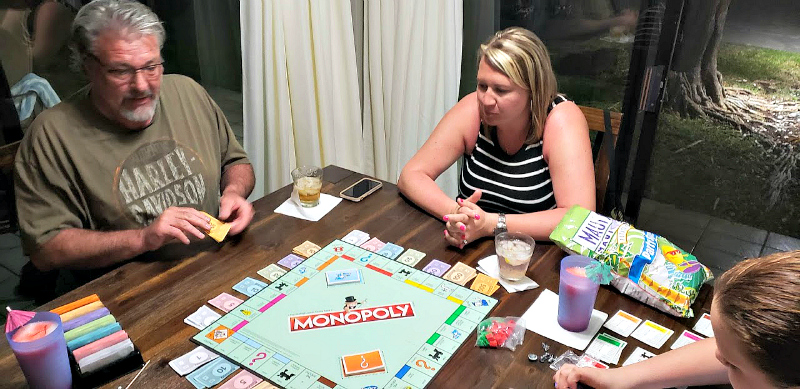 Our unplugged vacation to the Big Island of Hawaii included a friendly family challenge to Monopoly.