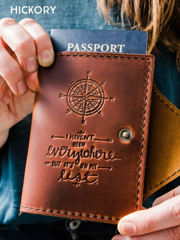 Give Grandmom the gift of a passport cover that celebrates her love of travel. Photo: Etsy