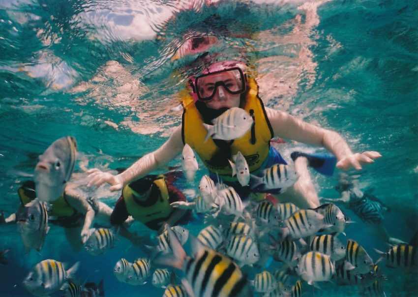Beach vacations for families in Mexico should include diving in Cozumel.