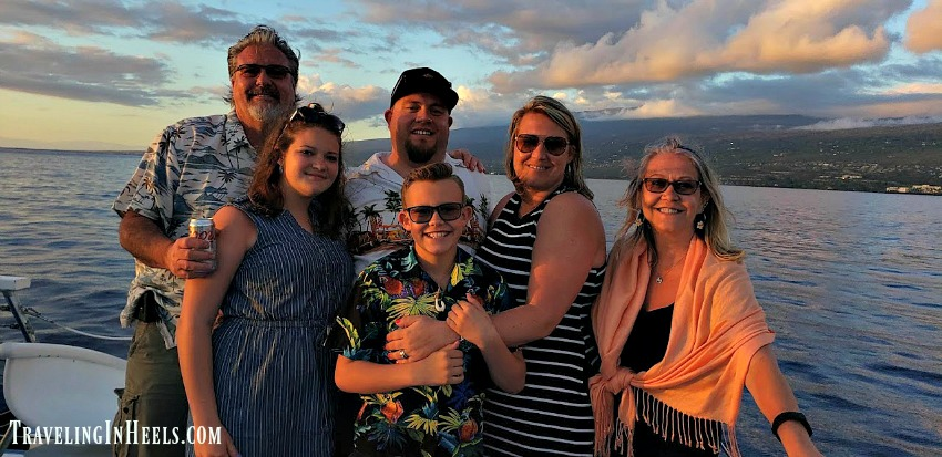 So. Much. Fun. During our recent multigenerational travel, we relaxed during a Captain Cook Dinner Cruise to Kealakekua Bay, a marine sanctuary.