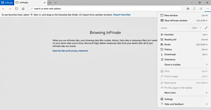 This is how to access incognito mode (InPrivate Window) on Microsoft Edge Browser