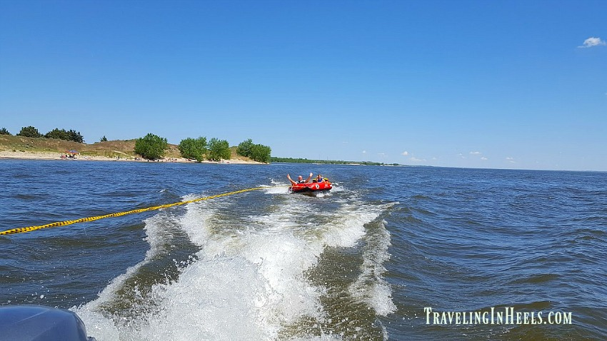 Beaches and tubing at Lake McConaughy, Nebraska is the perfect family vacation destination.