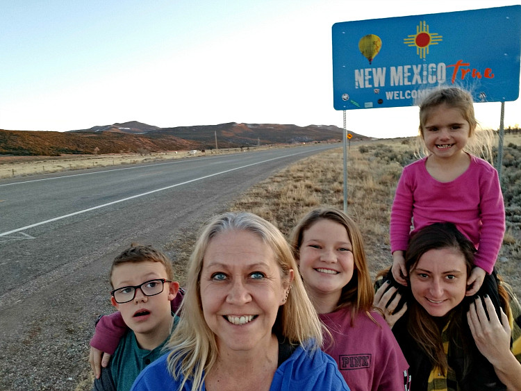 On our epic road trip to New Mexico (all road trips), we always stop at the state line signs for multigenerational family photos.