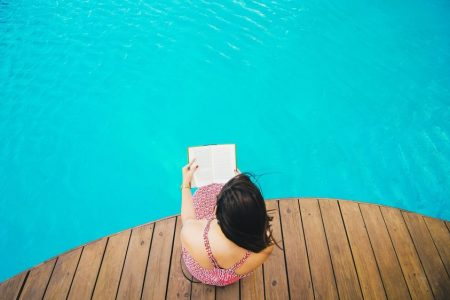 Get lost in a book and reward yourself with a little personal pool fun.