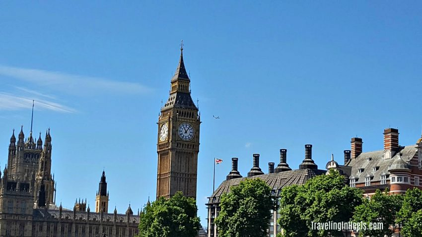 All aboard a double-decker bus to visit iconic attractions in London, England, like Big Ben.