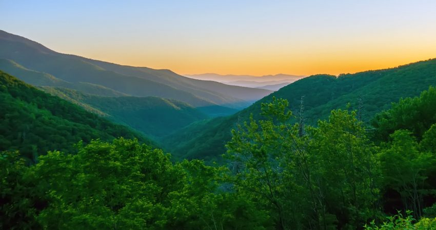 Take in the view of the Blue Ridge Mountains with cabin rentals for your family vacation.