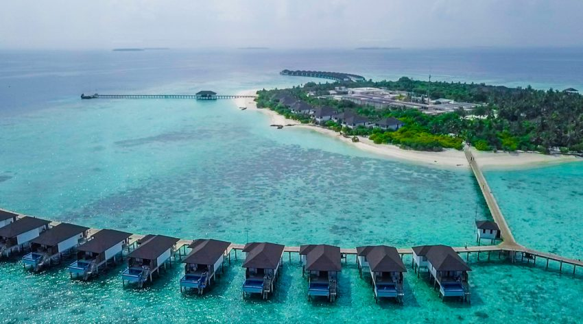 Known for its beaches, blue lagoons, and extensive reefs, The Maldives is located in the Indian Ocean composed of 26 ring-shaped atolls, which are made up of more than 1,000 coral islands