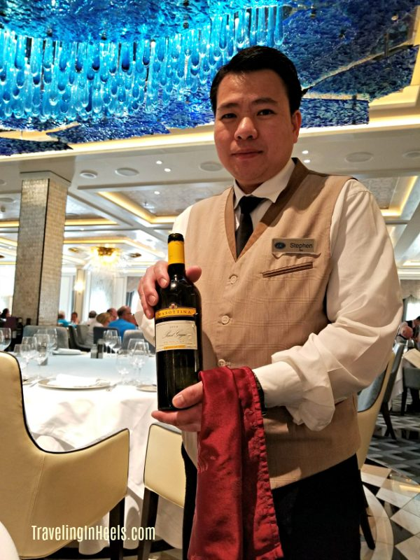 First Time cruise tips should include allowing the sommeliers to recommend wine pairings.
