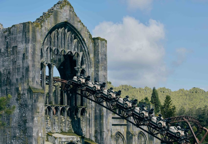 """From rich sets and an actual forest with 1,200 trees to ground-breaking coaster technology and a captivating storyline, Hagrid's Magical Creatures Motorbike Adventure will be the most highly-themed, immersive coaster experience yet – becoming the world's first """"story coaster."""""""