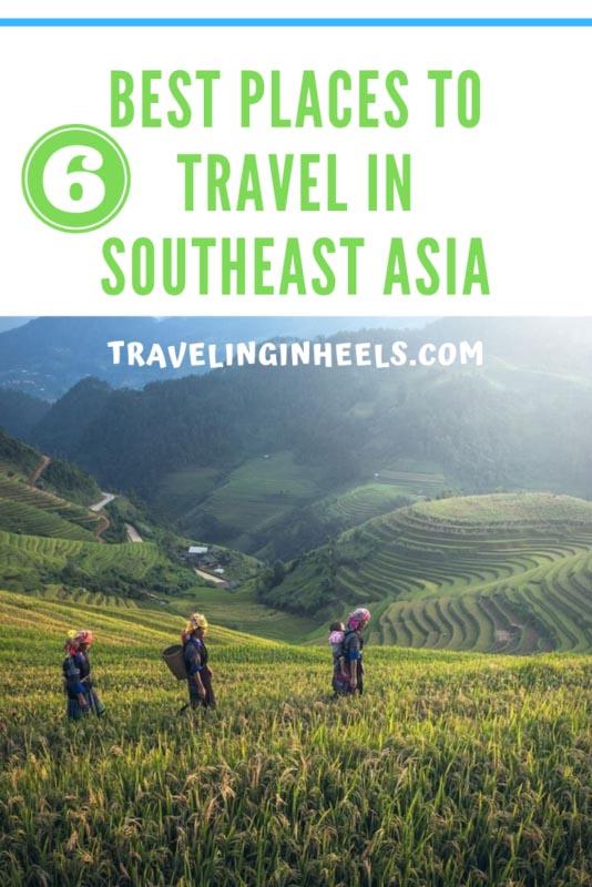 From Cambodia to Thailand, these are 6 best places to travel in Southeast Asia. #southeastasiatravel #southeastasia #travelbucketlist