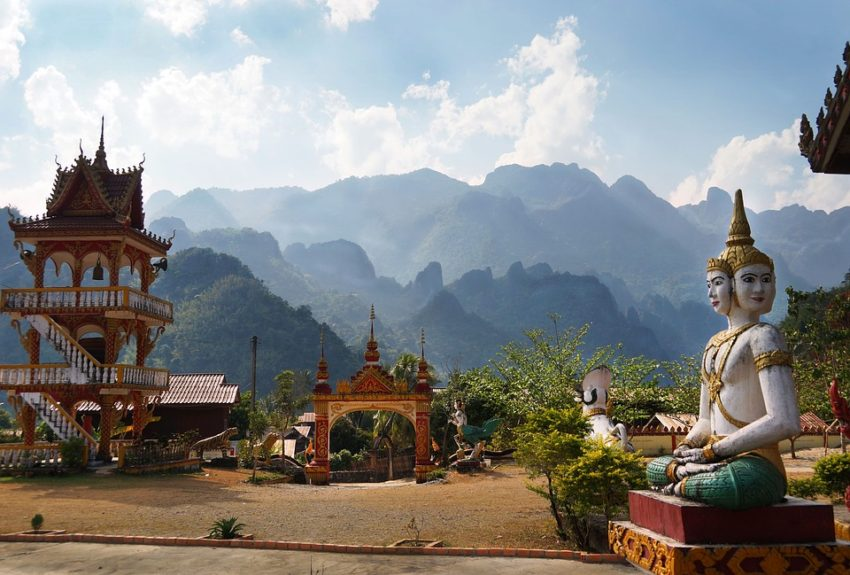 One of the best places to travel in Southeast Asia is Laos, a country known for mountainous terrain, French colonial architecture, hill tribe settlements, and Buddhist monasteries.