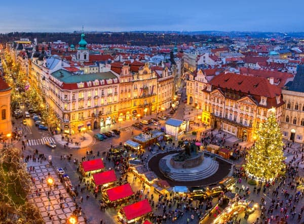 Christmas market at Prague's Old Town Square