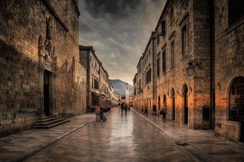 Walk the ancient streets of Dubrovnik, Croatia and admire its architecture.