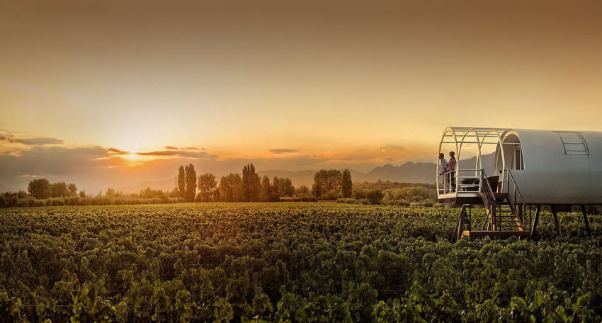 How about a wine themed getaway to Argentina as one of these Black Friday Travel Deals 2019? Photo: Entre Cielos Wine Hotel + Spa in Mendoza, Argentina