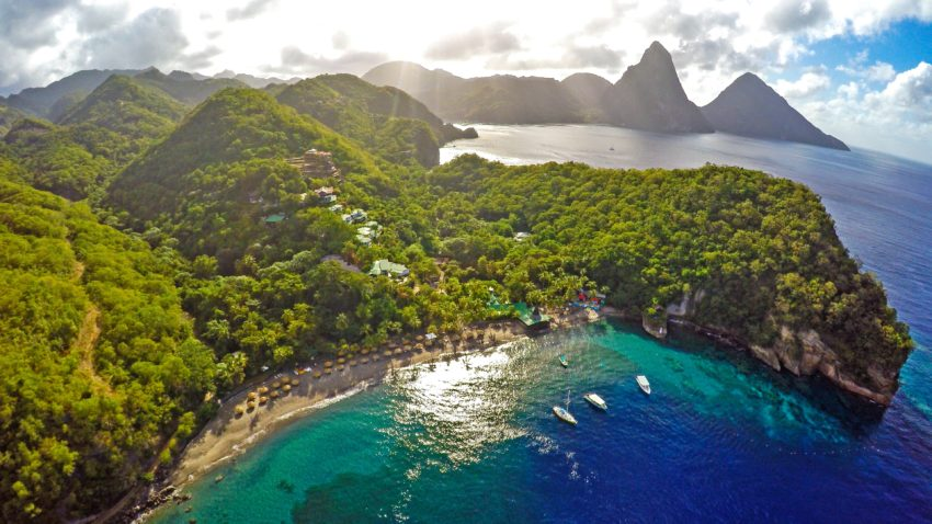 This could be your next vacation -- and save with these travel deals of up to 60 % off in St. Lucia. Photo: Anse Chastanet, Saint Lucia