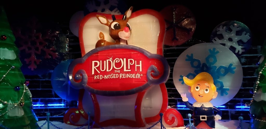In 2019, Gaylord Rockies Resort debuted its ICE! featuring Rudolph the Red-Nosed Reindeer.