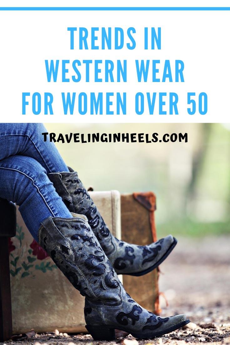 Trends in Western Wear for Women Over 50 #westernwear #styletrends #over50fashion #westernwearwomen