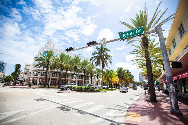 Ocean Drive is a major thoroughfare in the South Beach neighborhood of Miami Beach
