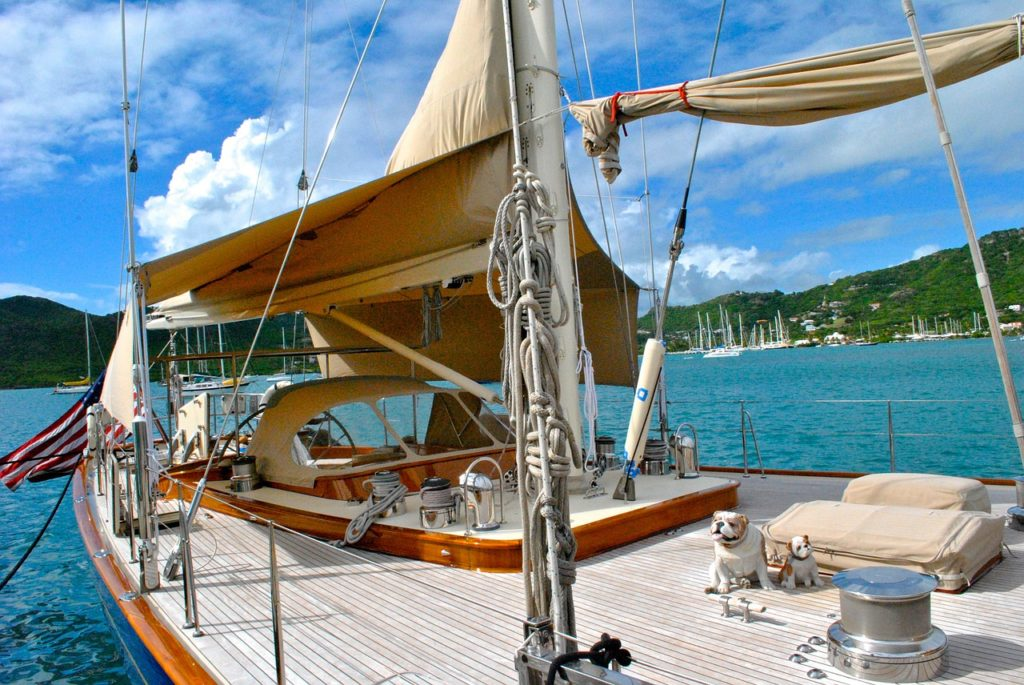 Charter a yacht and sail away on your next romantic vacation.