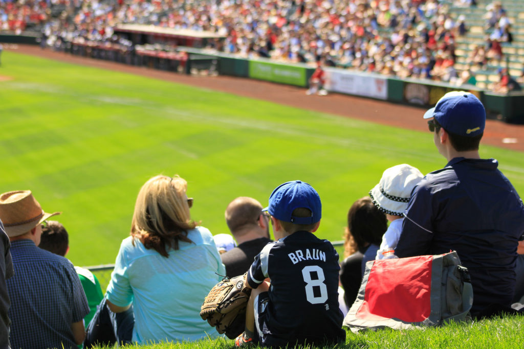 Take the family for spring training in Phoenix at the Tempe Diablo Stadium. Photo credit: Arizona Office of Tourism
