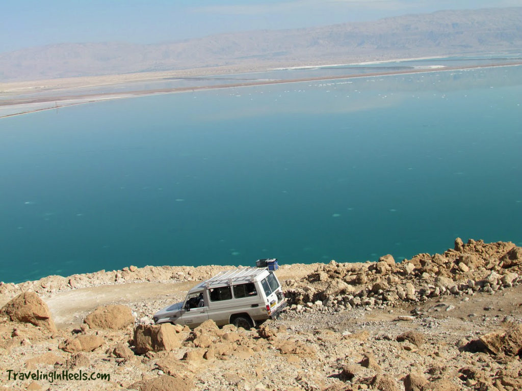 Consider travel insurance when you international vacation includes adventures like 4-wheeling in Israel down to the Dead Sea.