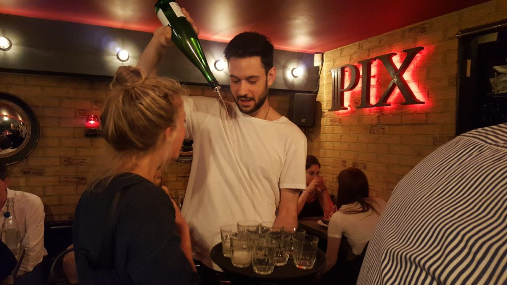 One of the stops on our London food tour was Pix, in the pulsating heart of Soho and surrounded by some of the Capital's most notorious venues, and the night owl of this restaurant family.