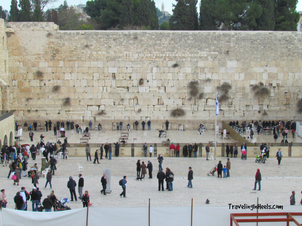 "The Western Wall, or ""Wailing Wall"", is the most religious site in the world for the Jewish people, located in the Old City of Jerusalem."
