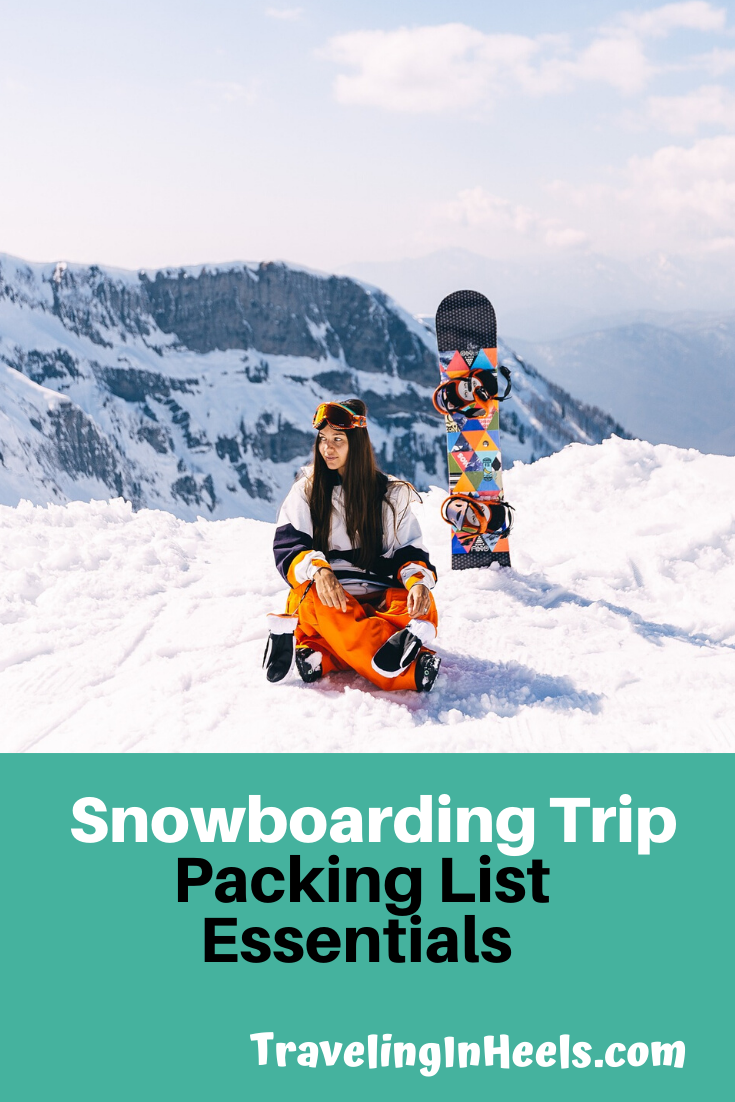 Get ready for the most awesome snowboarding trip with these packing list essentials. #snowboardingtrip #snowboardingpackinglist #wintersports #familyvacation #multigentravel #snowboarding