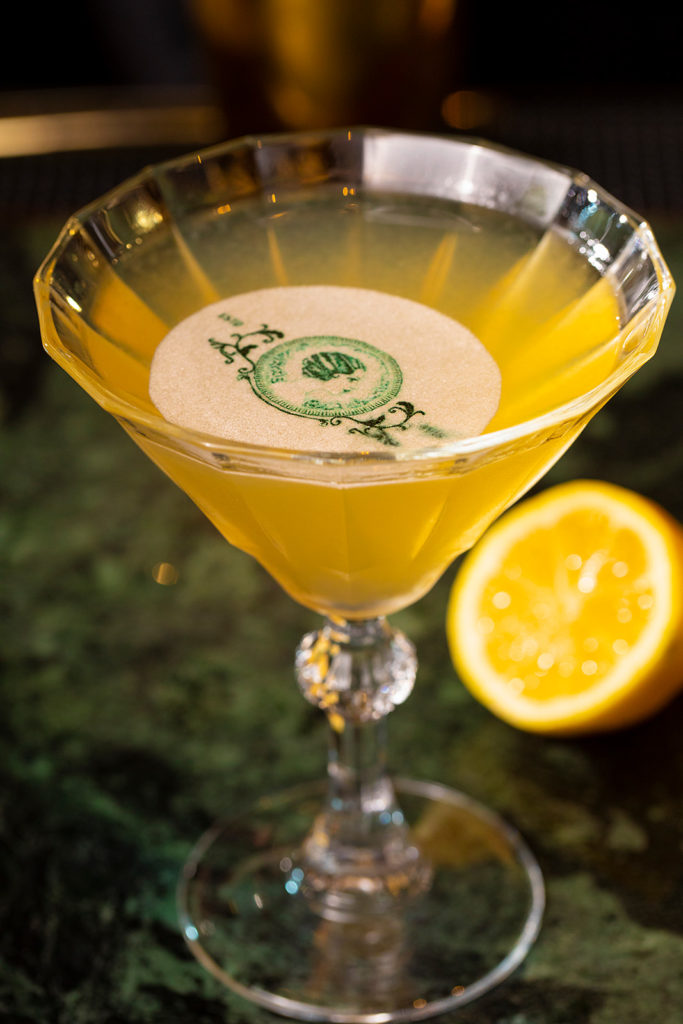 Order a French Side Car newly rebranded bar, Mademoiselle Gaby. Photo credit: Sofitel New York