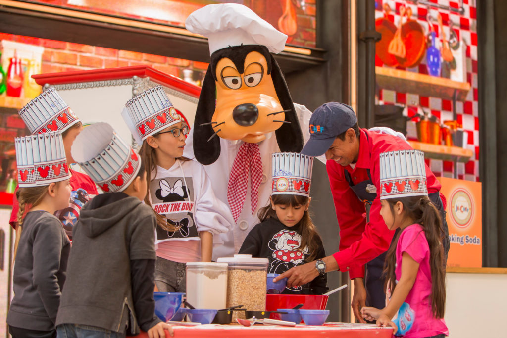 The guest-favorite Junior Chef experience returns to the Disney California Adventure Food & Wine Festival from Feb. 28 through April 21, 2020, with hands-on fun led by Chef Goofy. The complimentary experience for children, ages 3 to 11, allows aspiring young chefs to follow a recipe and mix a variety of ingredients to create magical treats that end with a tasty surprise. The festival features a variety of offerings for the whole family to enjoy, including unique food and beverage offerings to sip and savor at more than a dozen Festival Marketplaces. (Joshua Sudock/Disneyland Resort)