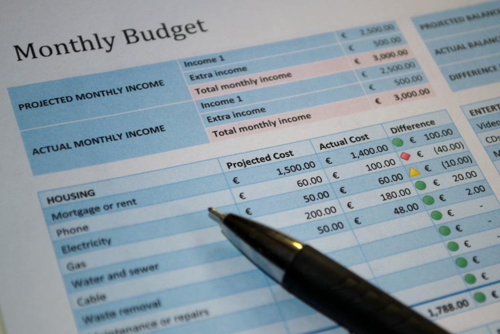 In order to gain (back) control of your finances, create a budget as one of the ideas for saving money.