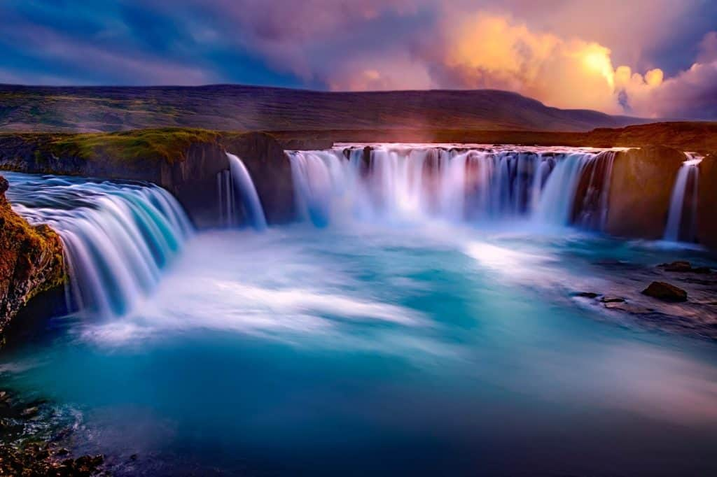 One of the best vacations for empty nesters is visiting Iceland and its Goðafoss waterfall, nicknamed the waterfall of the gods.